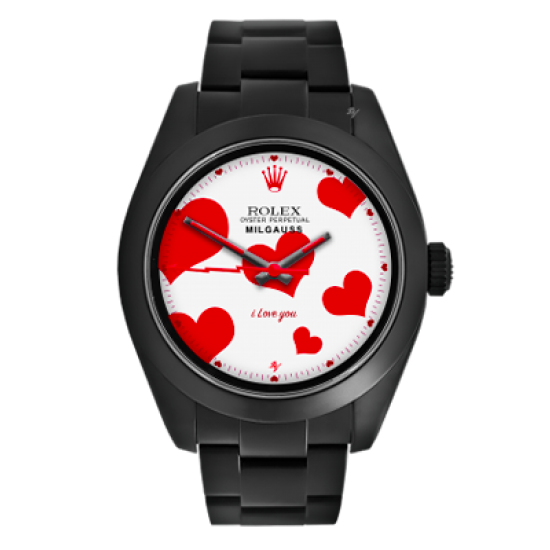 Rolex Love - Limited Edition /10 Black Venom Dlc - Pvd *