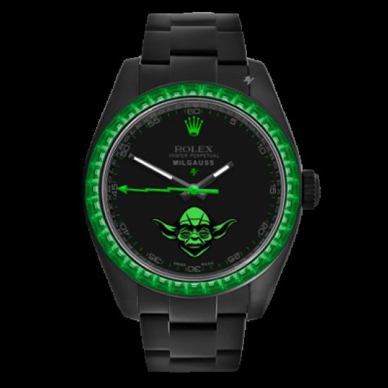 Rolex Milgauss Yoda - Limited Edition /5 Black Venom Dlc - Pvd *