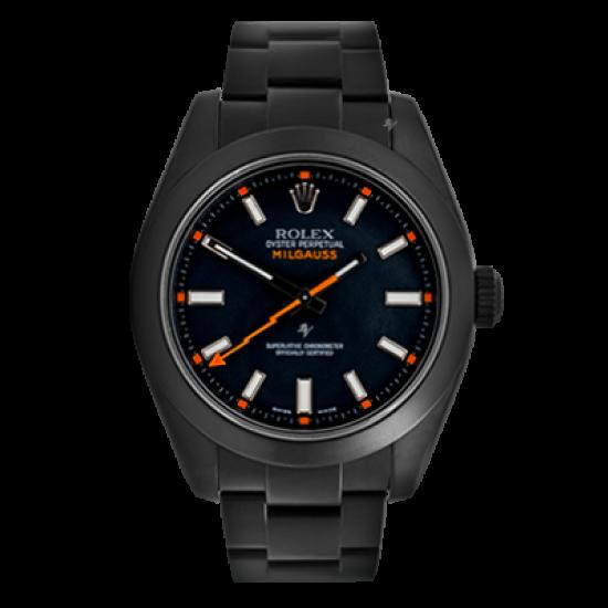 Rolex Milgauss Black Dial - Limited Edition /35 Black Venom Dlc - Pvd *