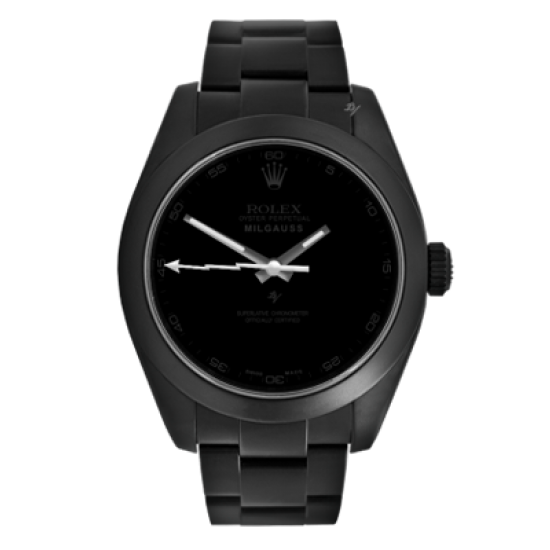 Rolex Pitch Black - Limited Edition /10 Black Venom Dlc - Pvd *