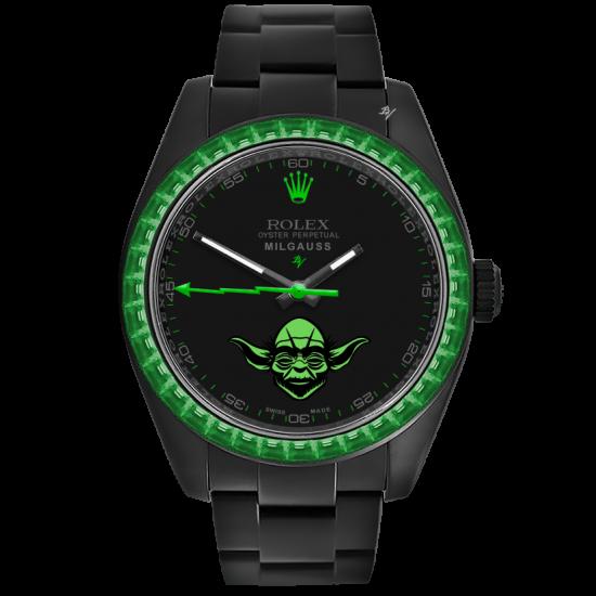 Rolex Yoda - Limited Edition /5 Black Venom Dlc - Pvd *