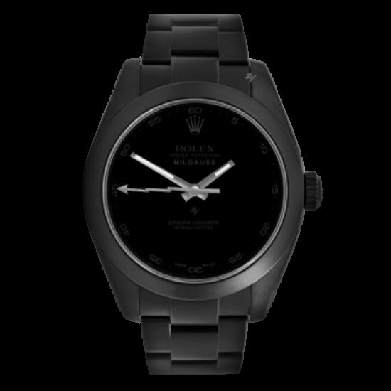 Rolex Milgauss Pitch Black - Limited Edition /10 Black Venom Dlc - Pvd *