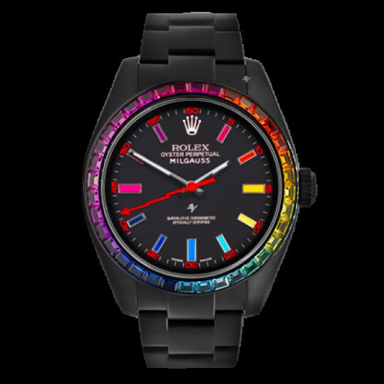 Rolex Milgauss  Rainbow MK1 - Limited Edition /5 Black Venom Dlc - Pvd *