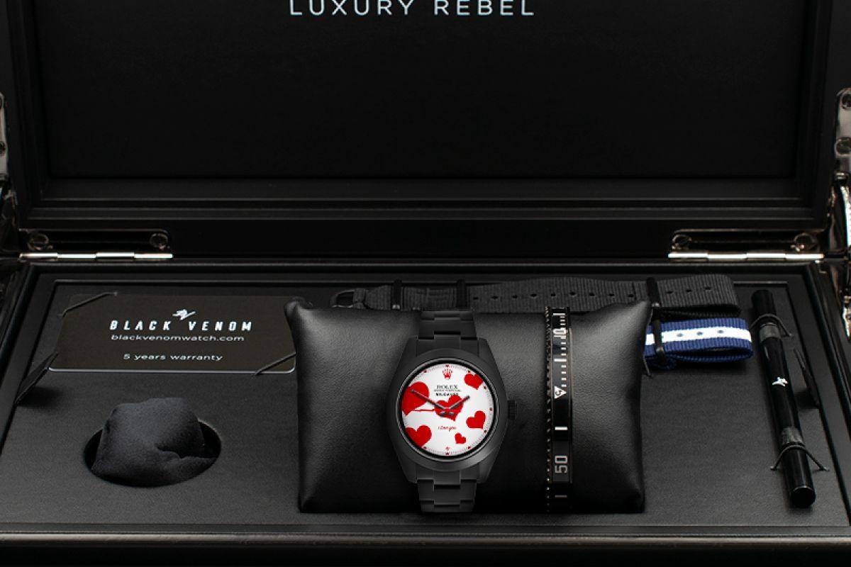 Rolex Love - Limited Edition /10 Black Venom Dlc - Pvd *
