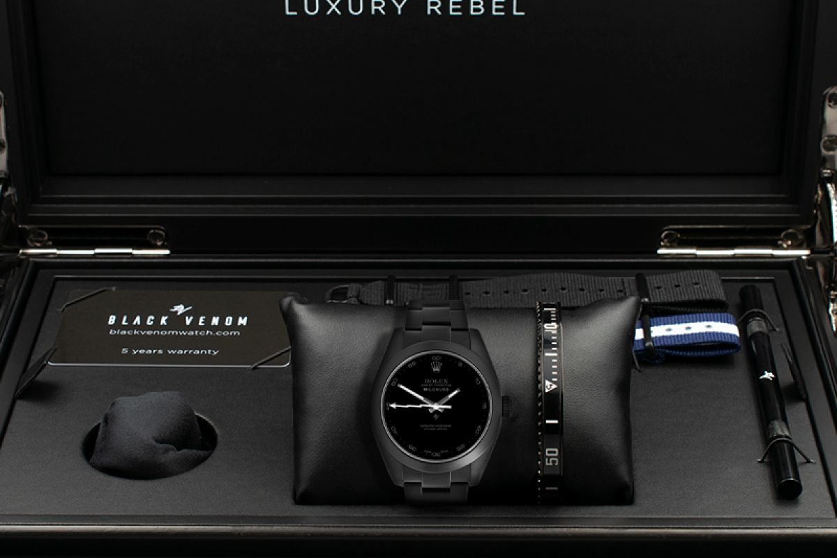 Rolex Pitch Black - Limited Edition /10 Black Venom Dlc - Pvd *