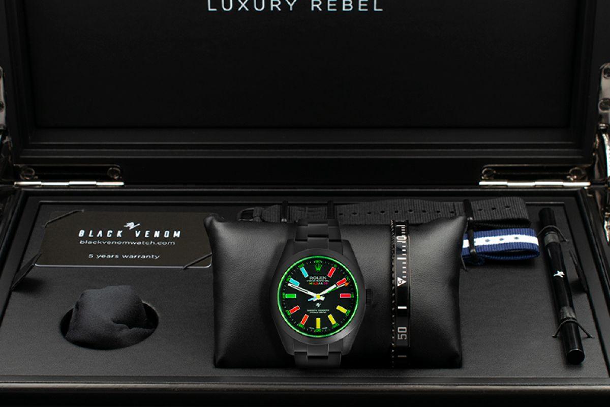 Rolex Smile - Limited Edition /5 Black Venom Dlc - Pvd