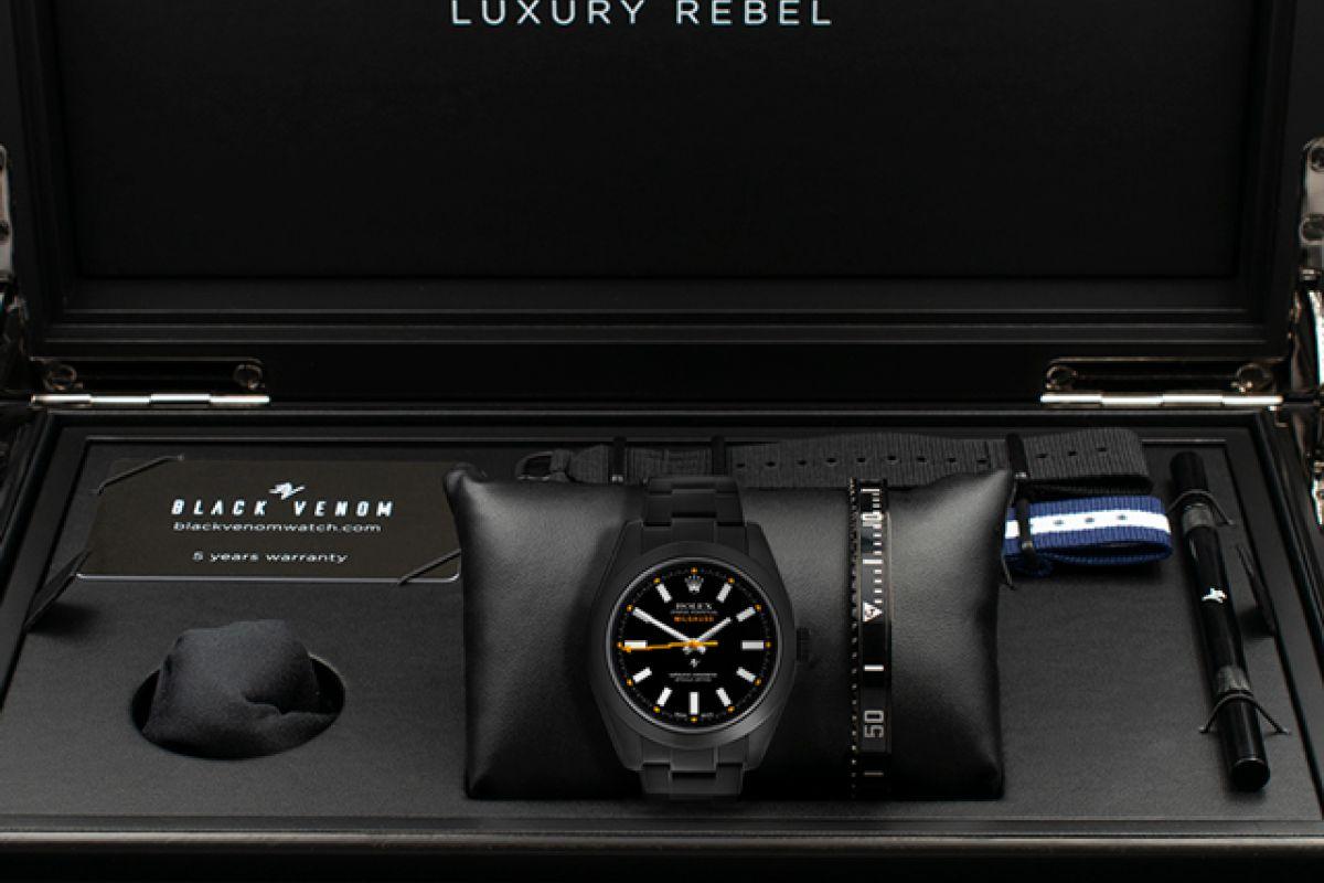 Rolex Black Dial - Limited Edition /35 Black Venom Dlc - Pvd *