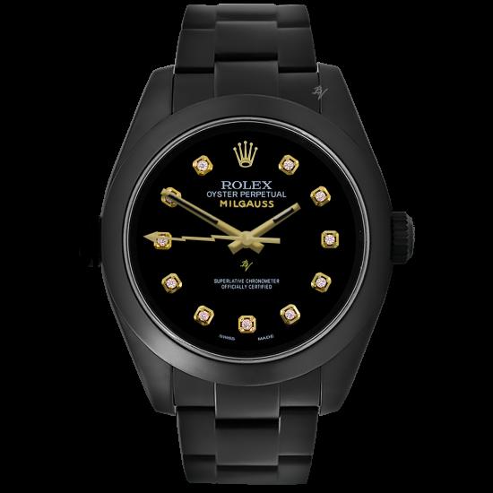 Rolex Milgauss NIM'S  - Limited Edition /5 Black Venom Dlc - Pvd *