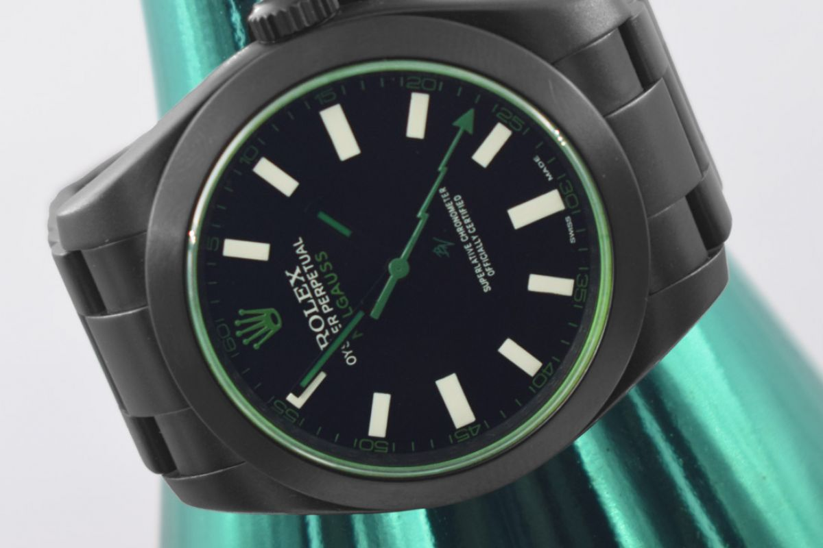 Rolex Clean Green - Limited Edition /10 Black Venom Dlc - Pvd *