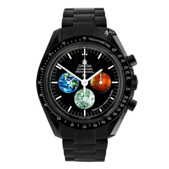 Omega Moonwatch From the moon to mars  Limited Edition /5 Black Venom Dlc - Pvd