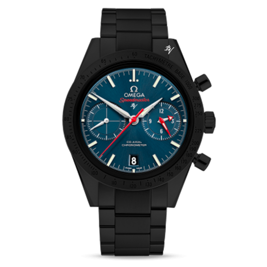 Omega 57 Co-Axial Chronograph  Limited Edition /10  Black Venom Dlc - Pvd