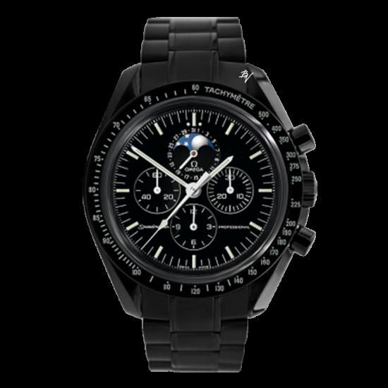 Omega Speedmaster Moonwatch Professional Moonphase Limited Edition /10 Black Venom Dlc - Pvd