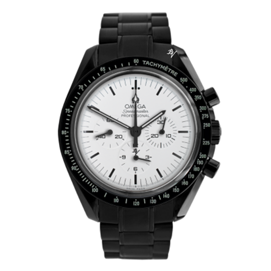 Omega Moonwatch Speedmaster White dial  Limited Edition /5 Black Venom Dlc - Pvd