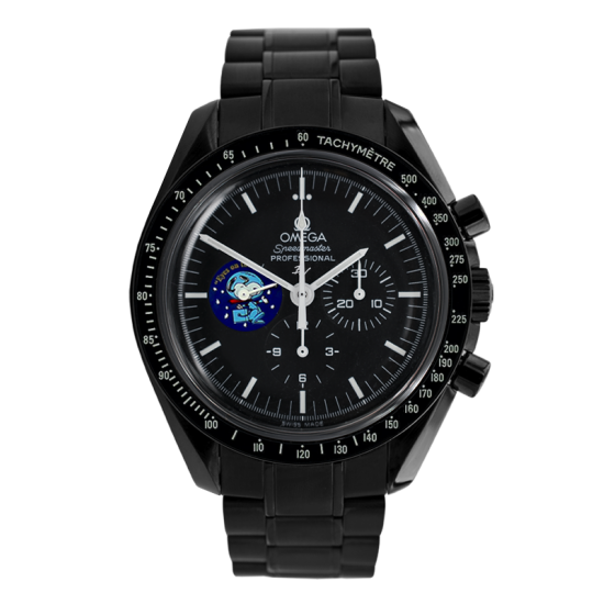 Omega Moonwatch Snoopy Limited Edition /5 Black Venom Dlc - Pvd