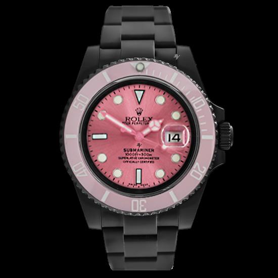 Rolex Pink Edition - Limited Edition /10 Black Venom Dlc - Pvd