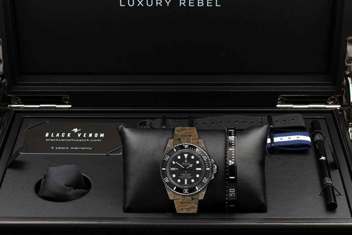 Rolex SUBMARINER N.O.C CAMOUFLAGE MK2 Limited edition /5 - Black Venom custom