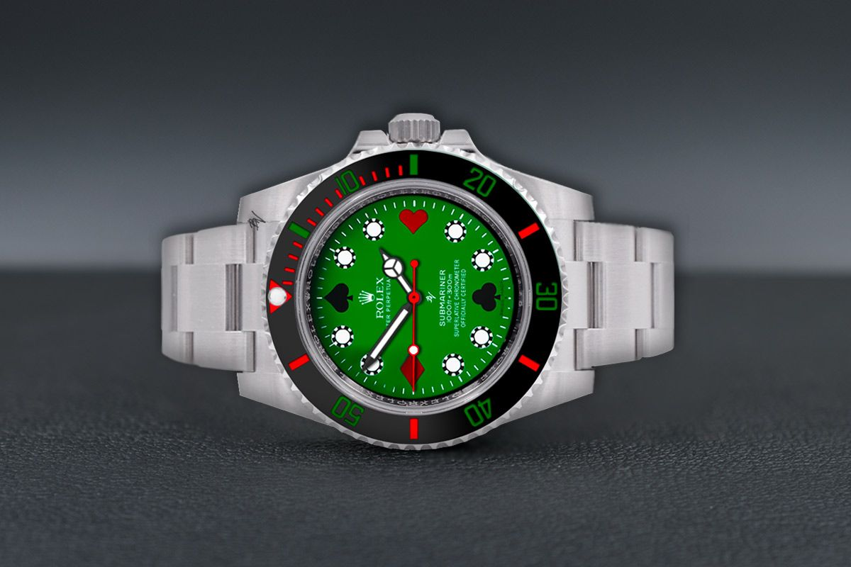 Rolex Poker Limited Edition 5 Black Venom Custom