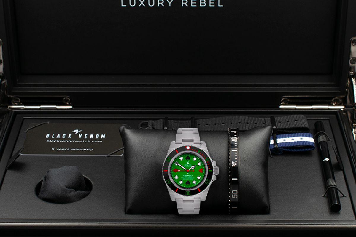 Rolex Poker Limited edition /5 - Black Venom custom