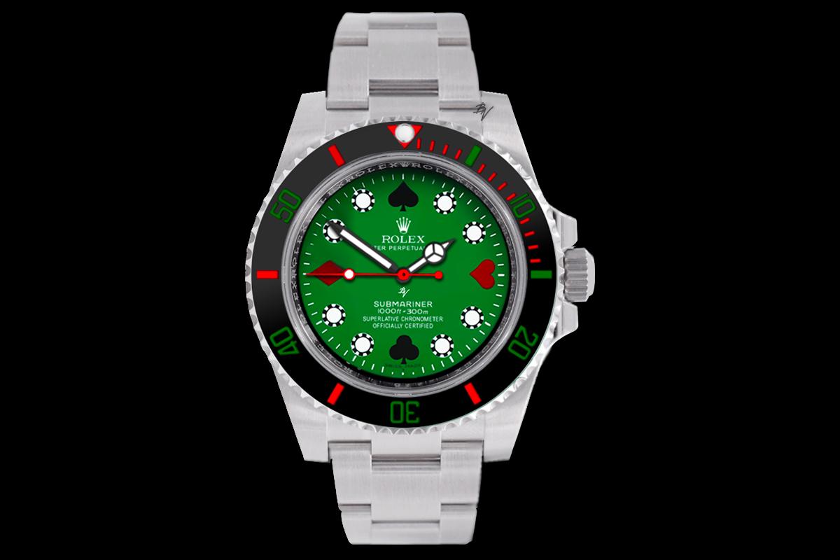 Rolex Poker Limited Edition 5 Black Venom Custom