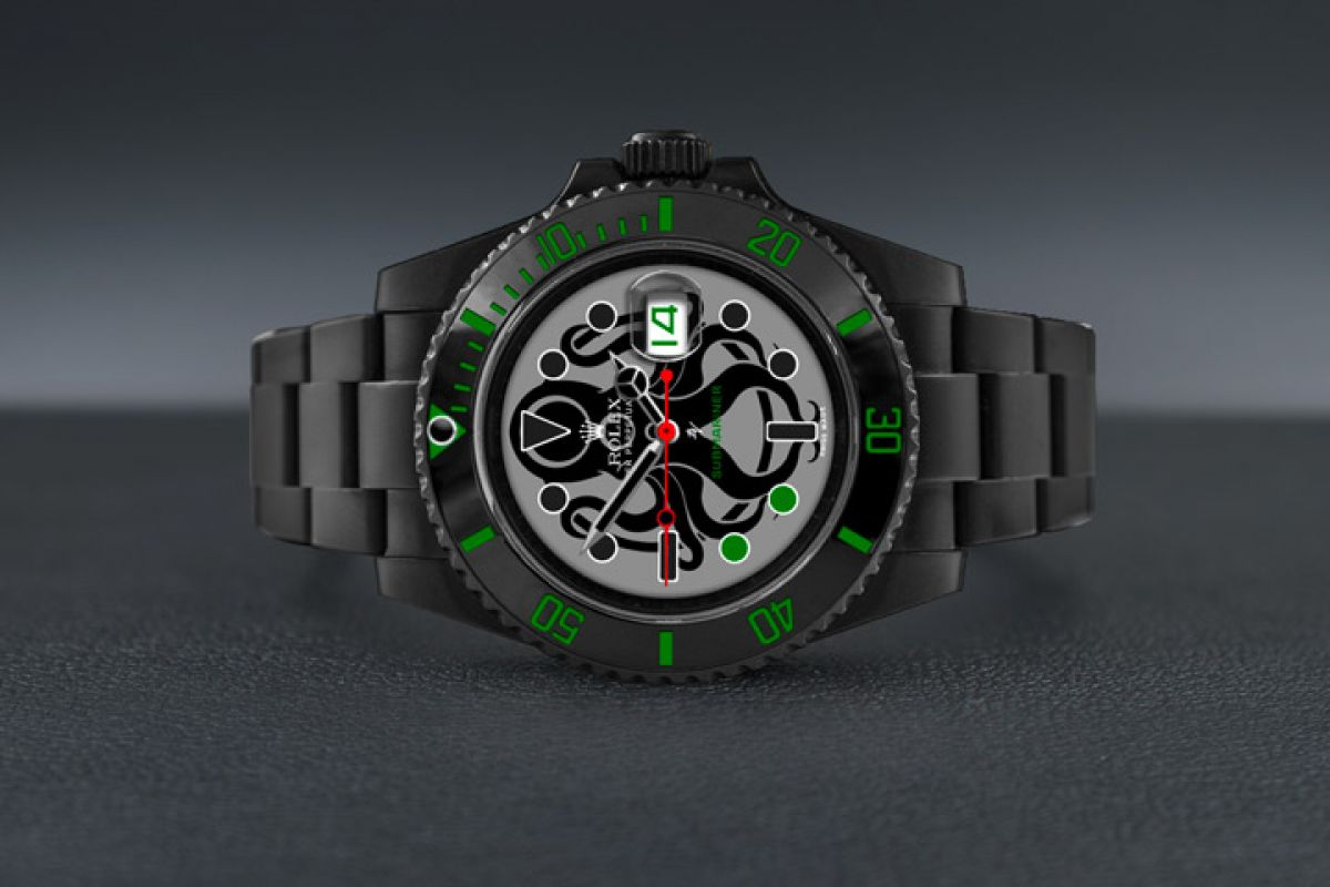 Rolex  octopus - Limited Edition /10 Black Venom Dlc - Pvd