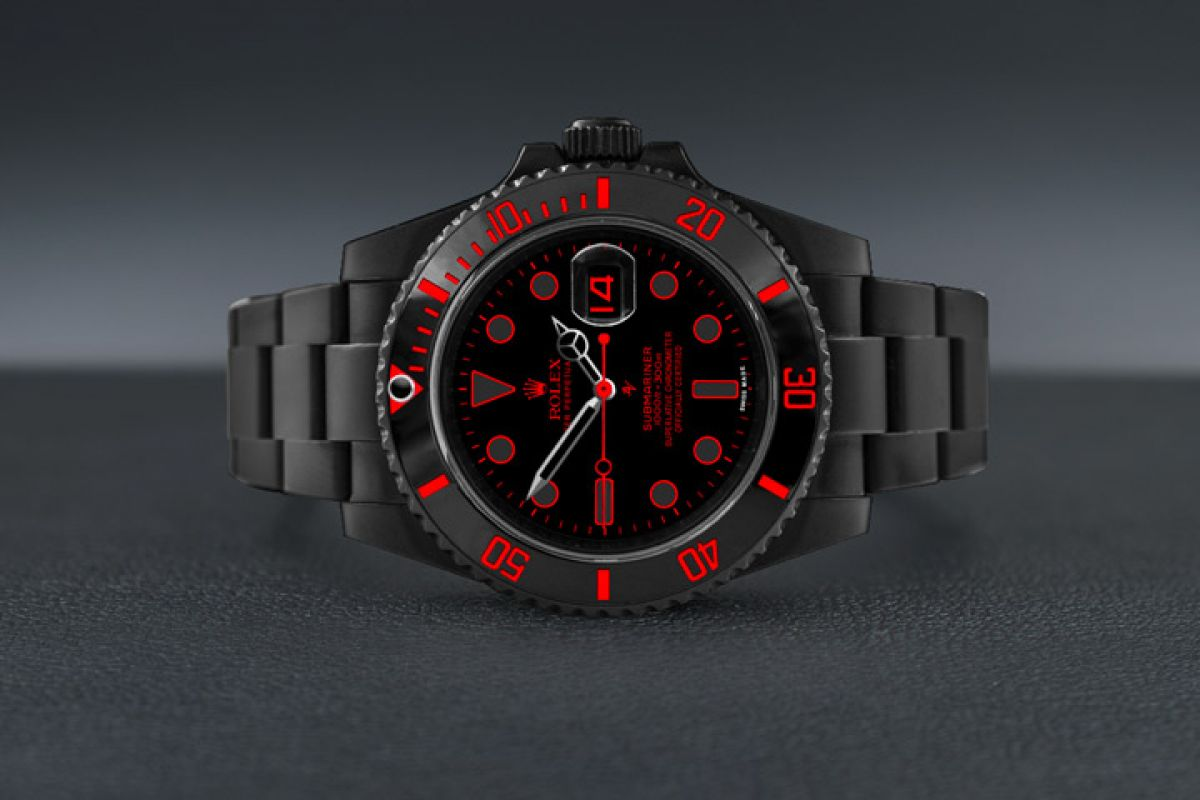 Rolex 116610  - Limited Edition /10 Black Venom Dlc - Pvd