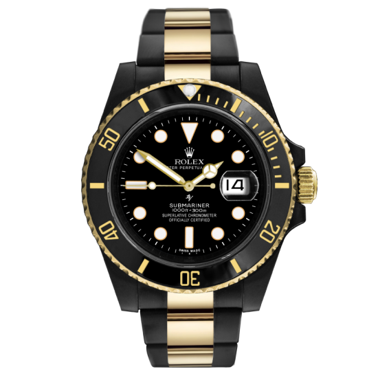 Rolex Black & Gold - Limited Edition /35 Black Venom Dlc - Pvd