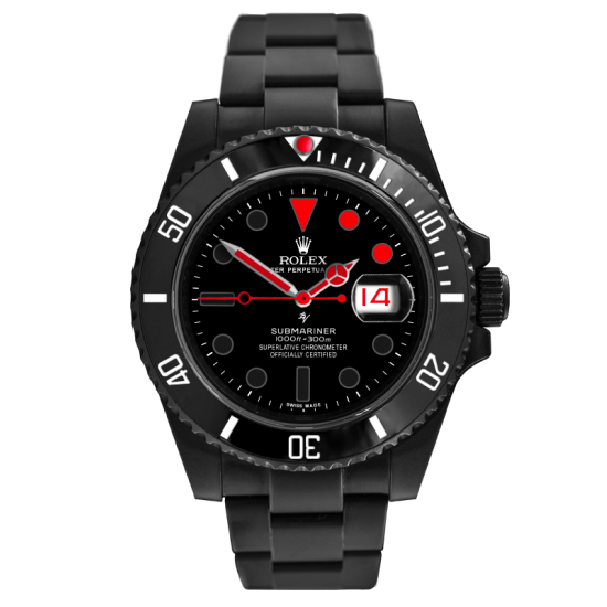 Rolex  Little Red - Limited Edition /10 Black Venom Dlc - Pvd