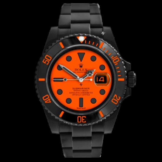 Rolex Orange - Limited Edition /10 Black Venom Dlc - Pvd