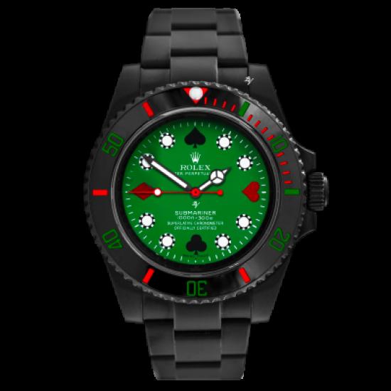 Rolex Poker - Limited Edition /10 Black Venom Dlc - Pvd