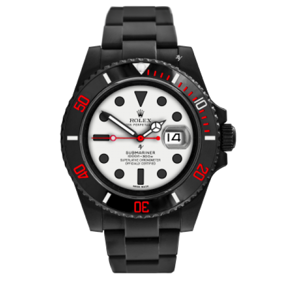 Rolex White dial - Limited Edition /10 Black Venom Dlc - Pvd