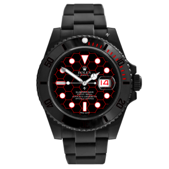 Rolex Retykle - Limited Edition /10 Black Venom Dlc - Pvd