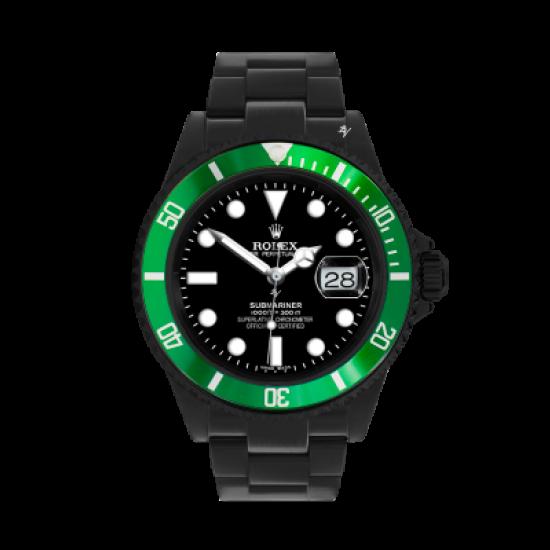 Rolex Green Bezel - Limited Edition /35 Black Venom Dlc - Pvd