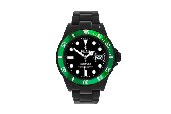 Green Bezel - Limited Edition /35 Black Venom Dlc - Pvd