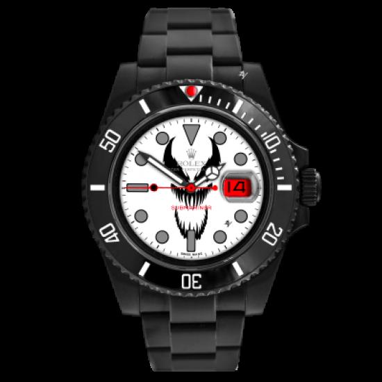 Rolex Symbiote Bianco - Limited Edition /10 Black Venom Dlc - Pvd
