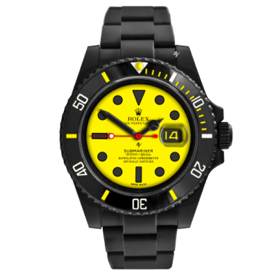 Rolex  Yellow - Limited Edition /10 Black Venom Dlc - Pvd