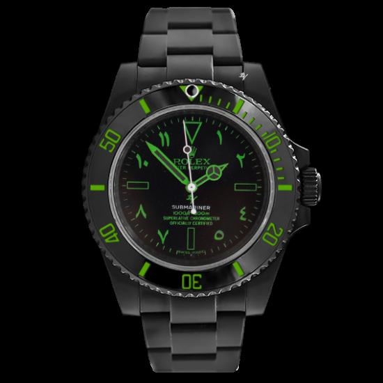 Rolex Green Arab - Limited Edition /10 Black Venom Dlc - Pvd