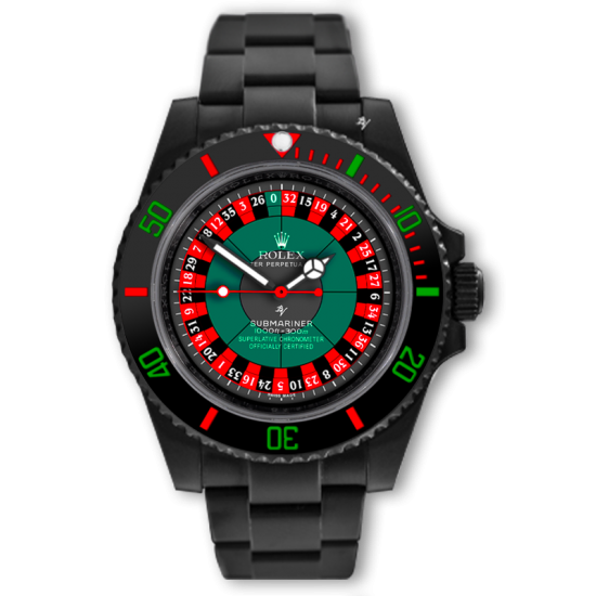 Rolex Submariner  Roulette - Limited Edition /10 Black Venom Dlc - Pvd