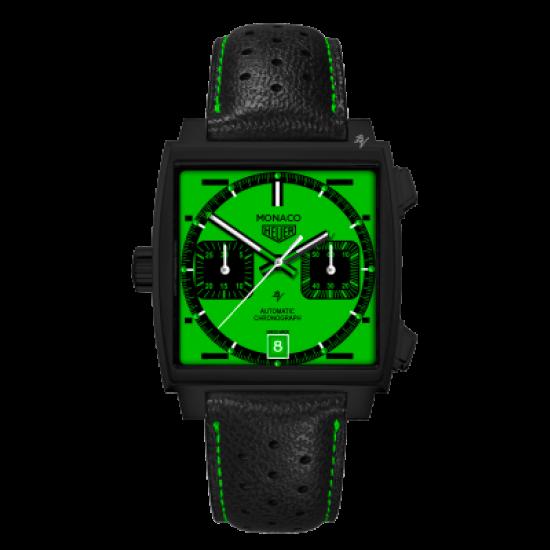 Tag Heuer Calibre 11 automatico Green Dial - Limited Edition /10  Black Venom Dlc - Pvd