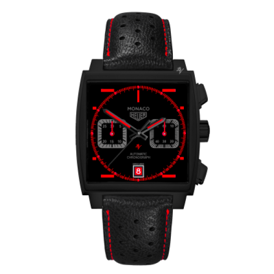 Tag Heuer Calibre 12 automaticoRed Taste - Limited Edition /10  Black Venom Dlc - Pvd